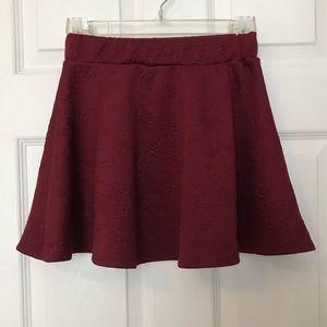 Burgundy Skater Skirt w/ Rose 🌹 Designs